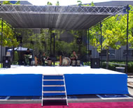 Draped Blue Stage